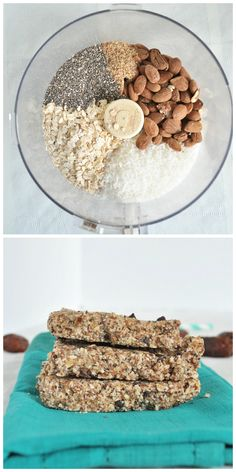 Almond Joy Protein Bars: Say goodbye to store bought protein bars. These almond joy protein bars are filled with healthy, whole food ingredients that will keep you energized! Super easy no bake recipe! Easy Baking Recipes, Raw Food Recipes, Snack Recipes, Cooking Recipes, Bar Recipes, Breakfast Recipes, Healthy Recipes, Healthy Sweets, Healthy Snacks