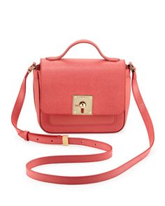 Mini Borsa Leather Crossbody Bag, Pink by Fendi at Neiman Marcus.