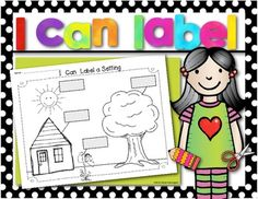 Workshop Freebie {I Can Label a Setting} FREEBIE! Writing Workshop {I Can Label a Setting} Workpage. Perfect for Kindergarten and First Grade. Writing Workshop {I Can Label a Setting} Workpage. Perfect for Kindergarten and First Grade. Writing Center Kindergarten, Kindergarten Language Arts, 1st Grade Writing, Work On Writing, Kindergarten Literacy, Teaching Writing, Classroom Activities, Writing Process, Writing Ideas