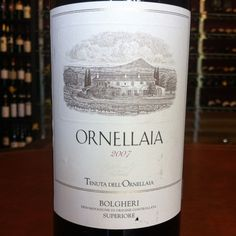 Tenuta dell'Ornellaia  - Ornellaia 2007 / Tuscany / Italy. One of the best italian wine. 2007 was the best vintage of the estate with 2001.