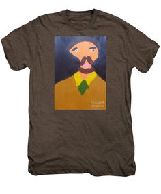 Patrick Francis Premium Mocha Heather Designer T-Shirt featuring the painting Portrait Of Eugene Boch 2015 - After Vincent Van Gogh by Patrick Francis