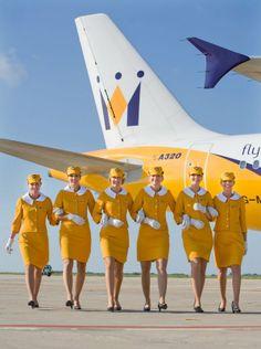 The Flight Attendant Life. the 60's for the six Monarch Cabin Crew  ( the original 1968 uniform)