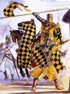 German Silesian Knights in combat