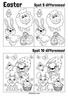 Easter Puzzles, Easter Worksheets, Easter Printables, Printable Activities For Kids, Easter Activities, Easter Crafts For Kids, Bunny Crafts, Easter Lamb, Easter Chick