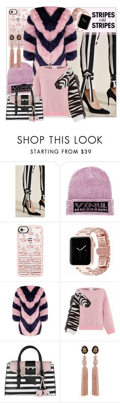 """In Love With Stripes"" by binych ❤ liked on Polyvore featuring Michelle Mason, Alexander Wang, Casetify, Hayley Menzies and GUESS"