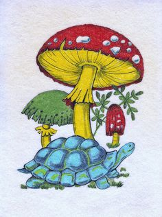 Vintage Hippie Psychedelic Felt Poster