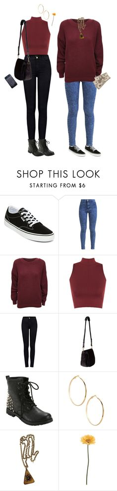 """""""I Don't Want To Go"""" by owlenstar on Polyvore featuring Vans, Miss Selfridge, WearAll, J Brand, Nomadic, GUESS by Marciano, Trifari and Gerber"""