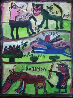 Jaber al-Mahjoub - 250 Zeichnungen von Jaber sind neben vielen Arbeiten anderer Künstler auf www.artbrut.li und www.aussenseiterkunst.ch zu sehen.