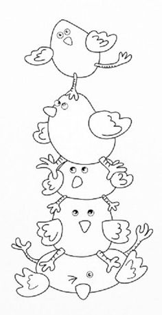 Bird Embroidery, Hand Embroidery Designs, Cross Stitch Embroidery, Machine Embroidery, Wool Applique, Applique Patterns, Colouring Pages, Coloring Books, Bird Illustration