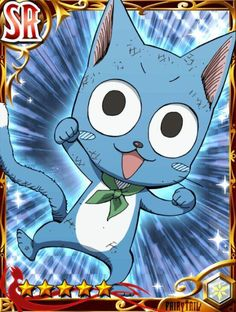 Cards From the Fairy Tail Brave G. Fairy Tail Cat, Fairy Tail Happy, Fairy Tail Love, Fairy Tail Ships, Fairy Tail Anime, Erza Scarlet, Laxus Dreyar, Fairy Tail Pictures, Fairy Tail Characters