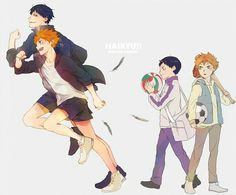 hinata and kageyama then and now