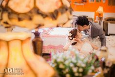 Capturing an intimate and romantic moment between the bride and groom.
