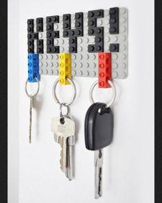 Colgante de llaves en forma de lego