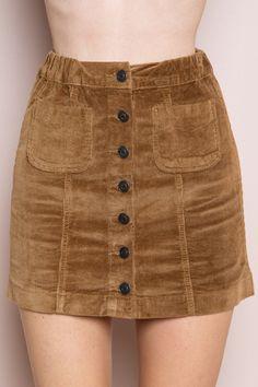 Brandy ♥ Melville |  Nanna Corduroy Skirt - Skirts - Bottoms - Clothing