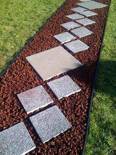 Red Lava Rock With Brick Edging Curb Appeal Pinterest