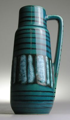 Scheurich West Germany Pottery Ceramic Modernist Mid 20 th Century Vintage Retro