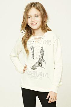 Girls Lace-Up Sweatshirt (Kids)