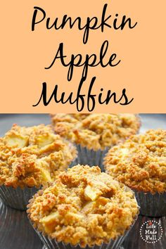 What two ingredients better sum up fall than pumpkin and apple? And these Pumpkin Apple Muffins blend into the perfect fall treat for a cool autumn day. Paleo Sweets, Paleo Dessert, Healthy Desserts, Healthy Foods, Healthy Eating, Gluten Free Pumpkin, Paleo Pumpkin Recipes, Paleo Pumpkin Muffins, Vegetarian Recipes
