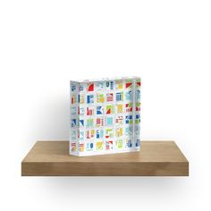 Acrylic Blocks ::: Graphic art by Luberlu Design - Title: Glyphs - Glyphes ::: Vibrant back mounted photographic prints, solid free-standing block for desk, table top or shelves. Treat yourself of make a gift to someone special!