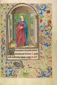 Saint Apollonia with a Book and Tongs, French, about 1466 - 1470 Ms. Ludwig IX 11, fol. 135