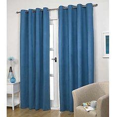 Cortinas Azules Dos Paneles @ Cortinas Blog
