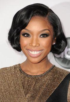 Brandy - beautiful makeup. #ama2012