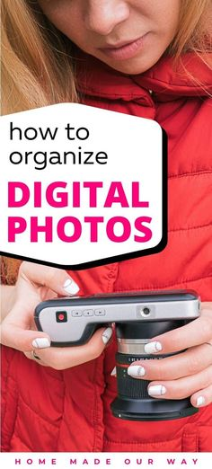 Are your digital photos a mess? Read two ways you can organize them so you can find your photos easily. Home Organization Hacks, Organizing Your Home, Digital Camera Tips, Digital Cameras, Organized Mom, Photo Storage, Camera Hacks, Organize Your Life, Scenic Photography