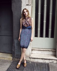 MARCH: Prints mastered and twisted in this knit M Missoni dress. Just prim enough to go from desk to dinner. 212 872 2897