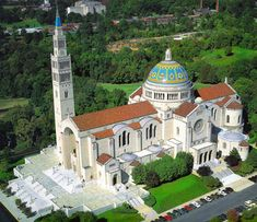 Basilica of the National Shrine of the Immaculate Conception in Washington DC. The largest Catholic church in the Americas.