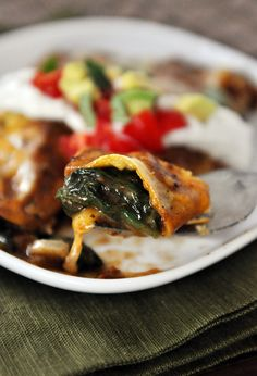 Spinach and Cheese Enchiladas | Mel's Kitchen Cafe