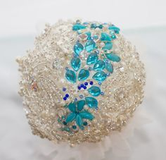 Items similar to Custom Made Full Bling Bouquet with Something Blue on Etsy Bling Bouquet, Something Blue, Wedding Accessories, Christmas Bulbs, Jewels, Trending Outfits, Holiday Decor, Unique Jewelry, Handmade Gifts
