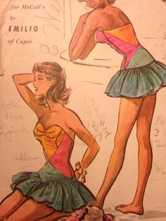 Pucci Pattern // Vintage Bathing Suit Pattern by ChattTownVintage