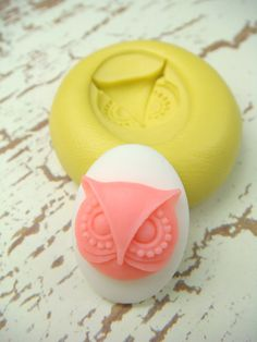 Owl Cameo  Flexible Silicone Mold  Push Mold Jewelry Mold by Molds, $3.99