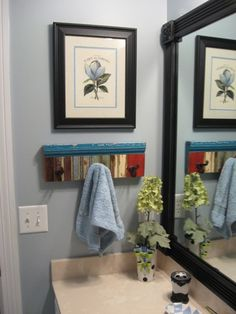 [frame in the plain mirror] Stock moulding by the foot is available in most home improvement stores. Framing the mirror is an easy way to carry the look of Regency elegance into all rooms. Moulding is even available made of extruded foam, for easy cutting and light weight attaching by tacking or adhesive.