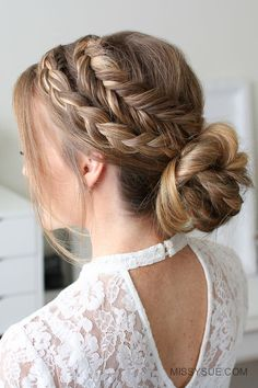 Mixed Fishtail and Dutch Fishtail Braid 3 Ways #BraidedHairstyles