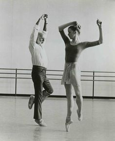 Dance giants. #NYCB  So lucky to have worked with these two!  Jerome Robbins & Darci Kistler