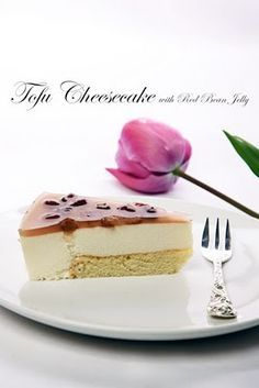 Yue's Handicrafts ~月の工作坊~: Tofu Cheesecake with Red Bean Jelly