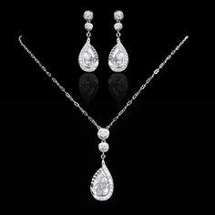 Luxury Swarovski Crystal Necklace Pendant Bridal by Annamall, $35.99