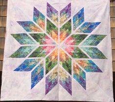 Prismatic Star, Quiltworx.com, Made by CI Gretchen Veteran