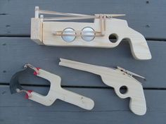 Shooter Slingshot Combo by BackwoodsToys on Etsy, $15.59