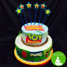 To cakefinity and beyond! Must love our Toy Story cake! :D #nikoncakes #toystory #edible #birthdaycake #customized