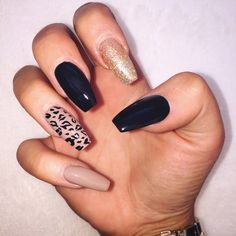 Red And Black Nail Designs Pictures. Some people may believe of beauty accessories as being cosmetics and hairstyles; however nail art add-ons can be added to this number as well for adding to your wh Trendy Nails, Stylish Nails, Cute Nails, Nail Designs Pictures, Black Nail Designs, Pink Nails, My Nails, Black Nails, Leopard Print Nails