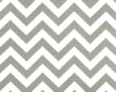 Dining Room Chairs - ZigZag Gray and White Chevron fabric  11 by FinePillowCovers, $3.00