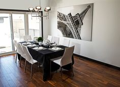 Ikea dining set ideas dark brown wooden four bar stool dining room sets 6 wall decor ideas chandeliers white dining table decor ideas ikea Dining Room Wall Decor, Dining Room Design, Diy Wall Decor, Home Decor, Ikea Dining Sets, White Dining Table, Lounge, Empty, Inspirational