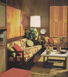 Vintage Home Decorating 1970s That stupid dark paneling was all the rage.