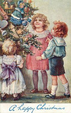 Винтажные открытки к рождеству...A.L. Bowley.. Обсуждение на LiveInternet - Российский Сервис Онлайн-Дневников