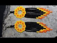 Seed Bead Earrings, Beaded Earrings, Seed Beads, Handmade Beaded Jewelry, Earring Tutorial, Brick Stitch, Ankle Bracelets, Bead Art, Bracelet Making