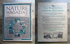 Nature Magazine - May 1925 by MouseTrapVintage on Etsy, $18.00