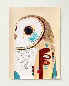 My Owl Barn: Australian Bird Series by Pete Cromer Collage Illustration, Collage Art, Illustrations, Cool Paper Crafts, Kids Art Class, Pretty Drawings, Bird Artwork, Australian Birds, Guache