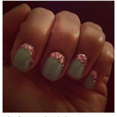 This is so cute. A nice soft tone and then glam it up with some pink sparkle!